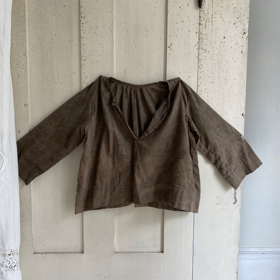 RARE antique French child's smock biaude cover up