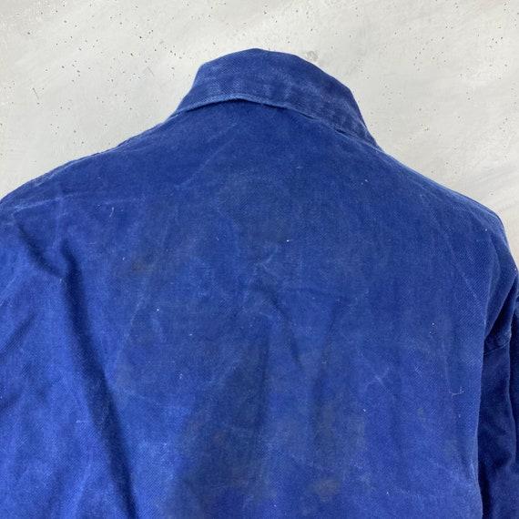 Vintage Jacket French Workwear Blue Jacket 1940s … - image 4
