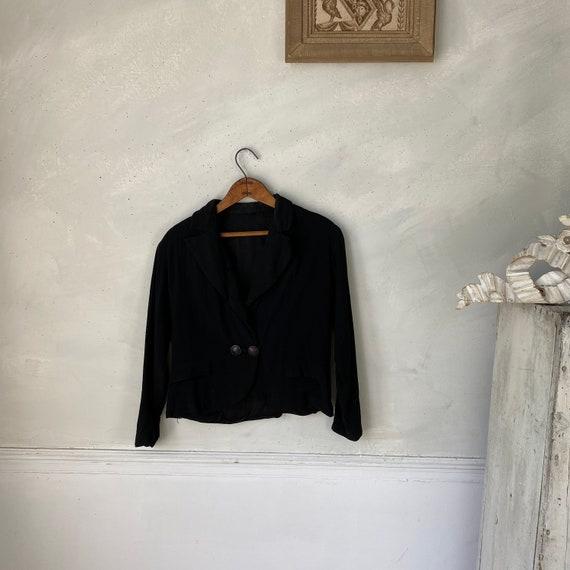 1950s Women's Dinner Jacket Rayon Jacket Workwear… - image 4