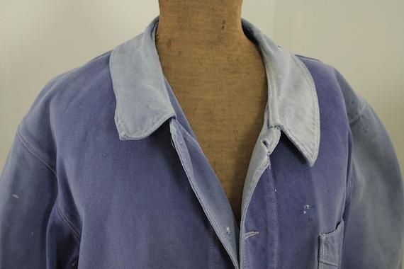 Jacket French work wear Faded Antique Blue Denim … - image 5