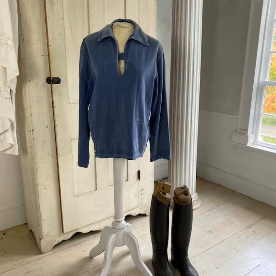 French blue Workwear work wear Vintage military s… - image 2