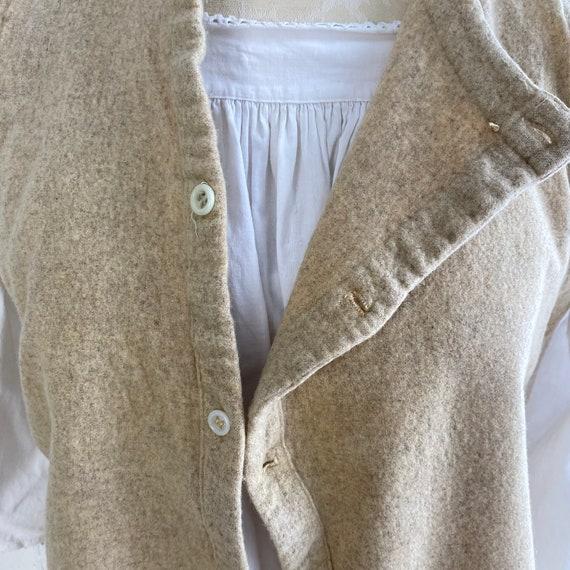 Vintage Shirt 1940s Wool Undershirt French Workwe… - image 9
