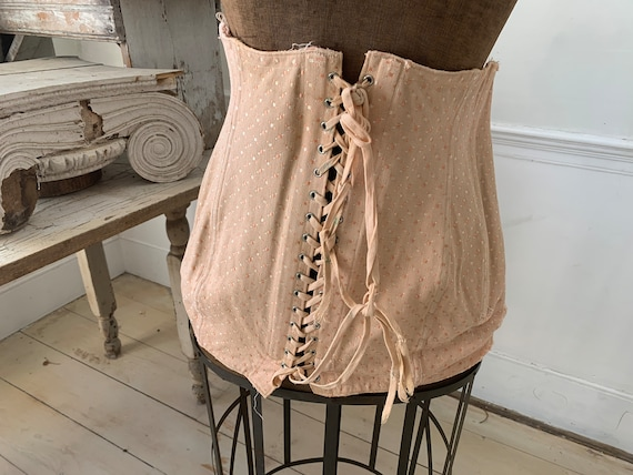 Vintage Girdle Corset Pink French 1940s Skirt Unde