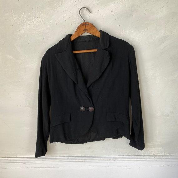 1950s Women's Dinner Jacket Rayon Jacket Workwear… - image 7