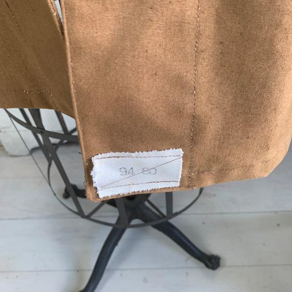 Vintage Canvas Jacket Heavy Brown Cotton Unused F… - image 6