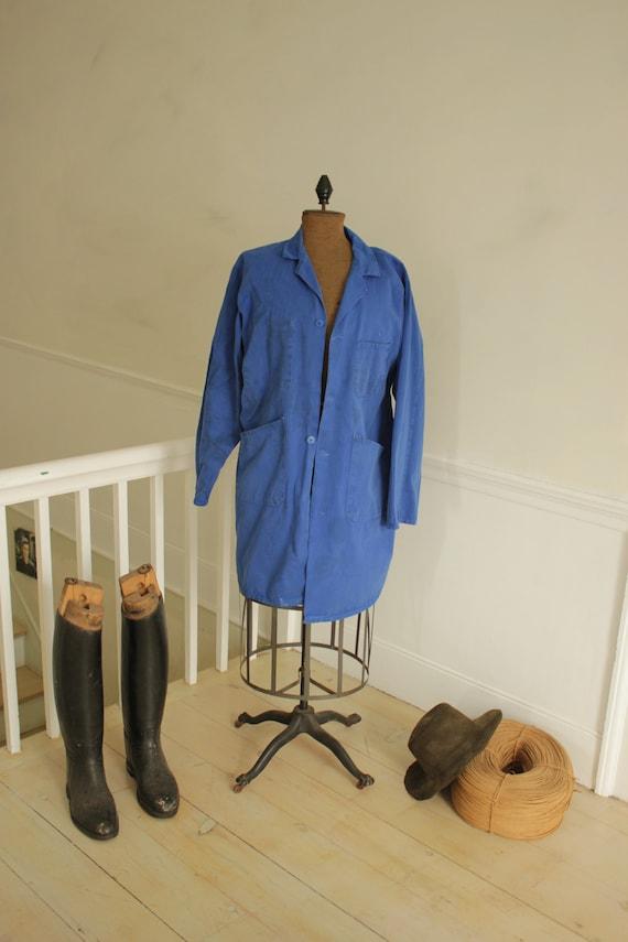 French Long Prussian Blue Coat Jacket Farmer's clo