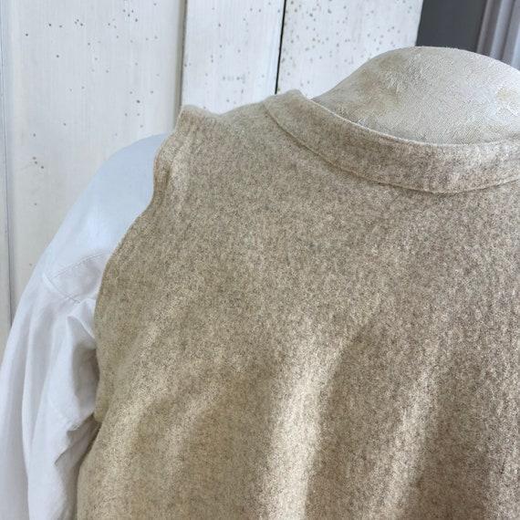 Vintage Shirt 1940s Wool Undershirt French Workwe… - image 8