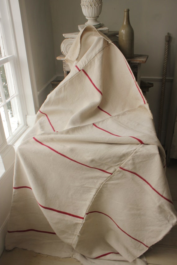 Strange Antique Striped French Fabric Red Stripe White Linen Cotton Heavy Upholstery Weight Bralicious Painted Fabric Chair Ideas Braliciousco