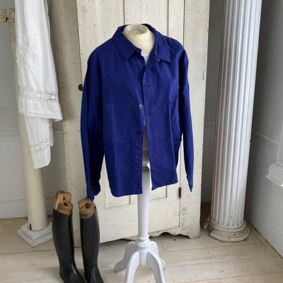 Vintage Jacket French Workwear Jacket Faded Antiq… - image 1