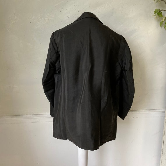 Men's Vintage Wool Jacket early 1900s French Work… - image 9