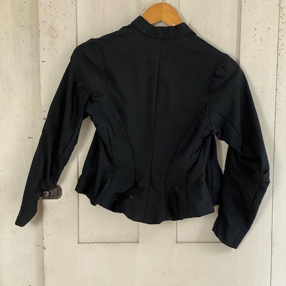 Victorian French Shirt Black Silk Blouse or Antiq… - image 10