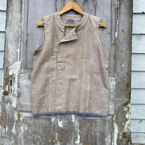 Vintage Shirt 1930s Wool French Workwear Button Up