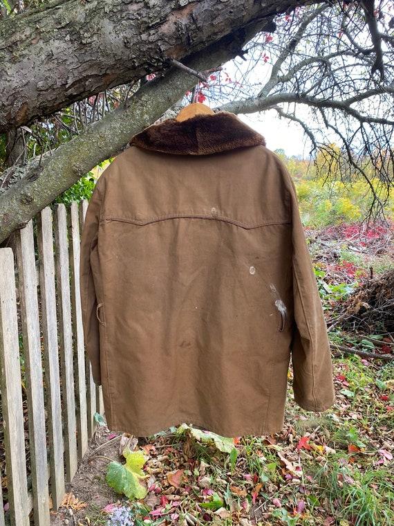 work wear for REPAIR  Chore coat Vintage Canvas J… - image 6