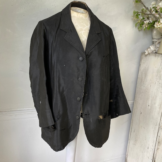 Men's Vintage Wool Jacket early 1900s French Work… - image 2