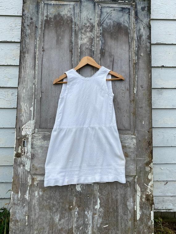 1930's French dress child's clothing girl's white