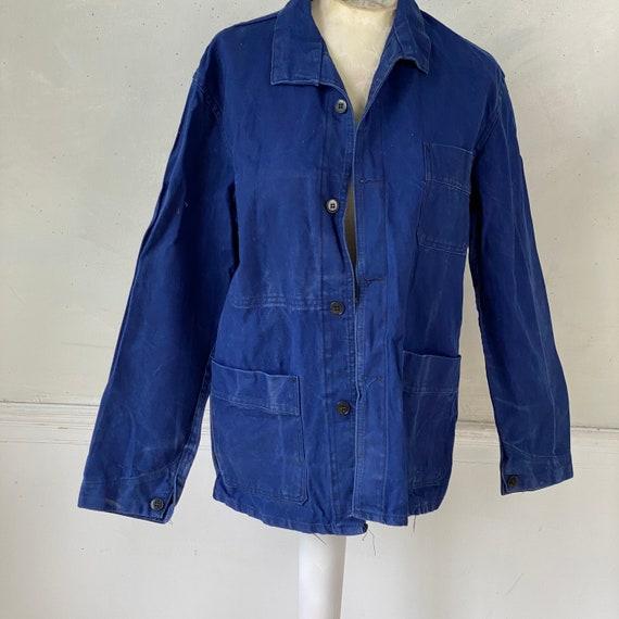 Vintage Jacket French Workwear Blue Jacket 1940s … - image 2