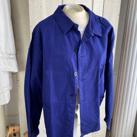 Vintage Jacket French Workwear Jacket Faded Antiq… - image 4