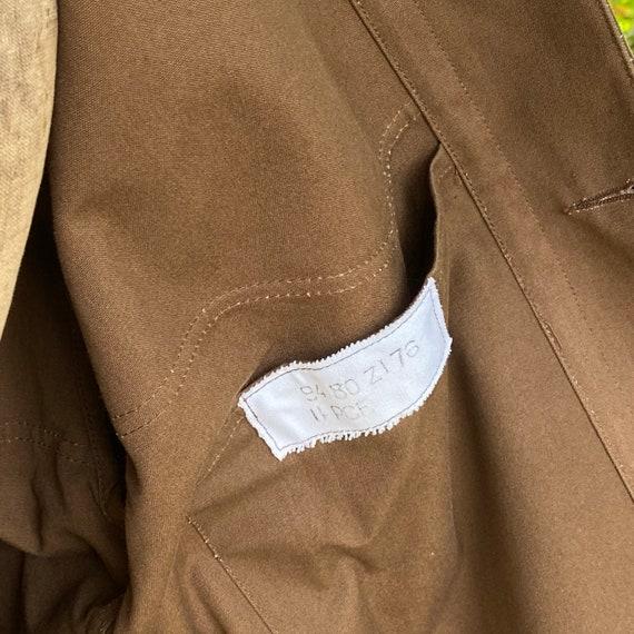 Vintage Canvas Jacket Heavy Brown Cotton Unused F… - image 8