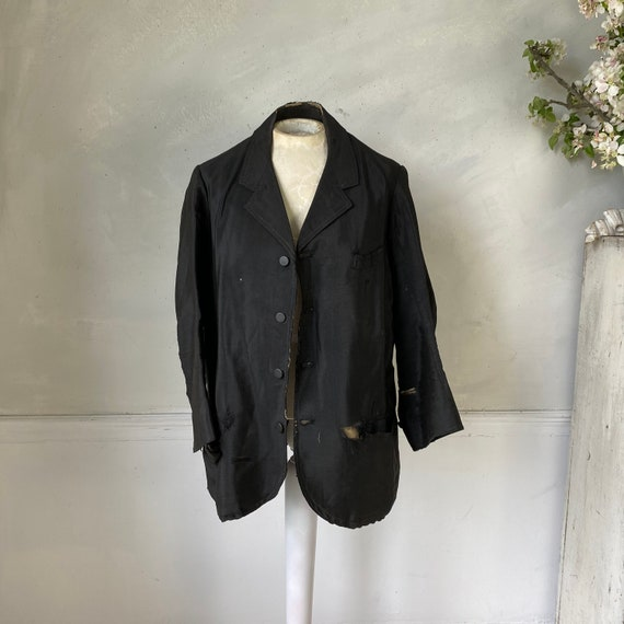 Men's Vintage Wool Jacket early 1900s French Work… - image 1