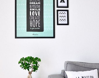 Be Your Own Hero poster. 50x70cm