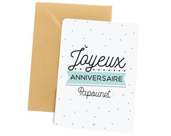 Carte Anniversaire Papa Joyeux Anniversaire Papounet Cadeau Papa Cadeau Carte Carte De Voeux