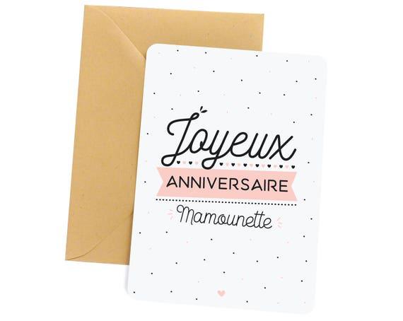 Carte Anniversaire Maman Joyeux Anniversaire Mamounette Cadeau Maman Cadeau Carte Carte De Voeux