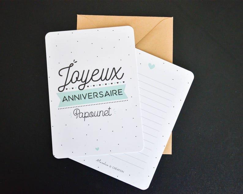 Carte Anniversaire Papa Joyeux Anniversaire Papounet Cadeau Etsy