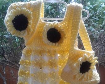 Crochet Sundress with Sunflower