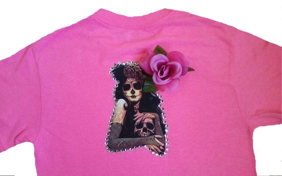 64c2937e4 Women's Gothic Girl Tattoo Tee/ Gothic Vampire T-shirt/ | Etsy