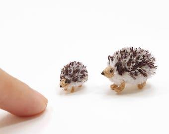 Micro Hedgehog crochet, tiny hedgehog family, amigurumi hedgehog