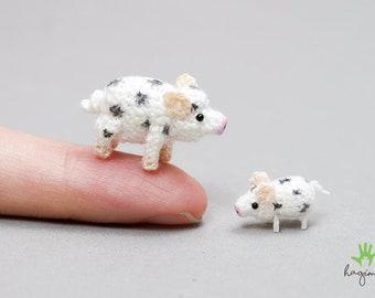 5Pcs Cute Pig Family Animal Model Figurine Miniature Fairy Garden Decoration ZF