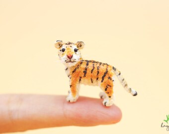 Miniatur Häkeln Tiger Kleine Tiger Amigurumi Häkeln Kleine Etsy