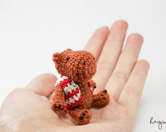 Miniature hippo crochet, tiny hippo, crocheted hippo, Amigurumi tiny Animals