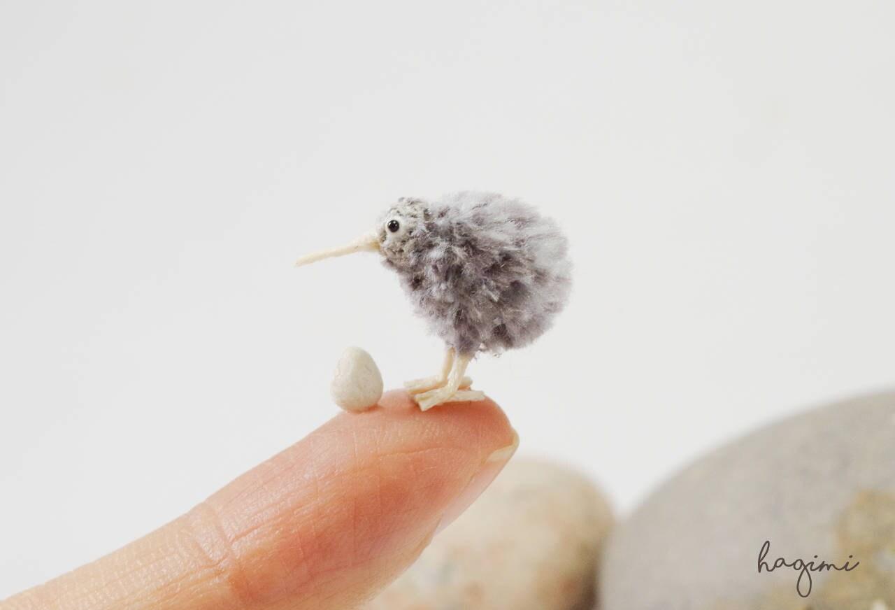 Pájaro de kiwi gris micro amigurumi con huevo ganchillo | Etsy