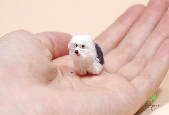 Mini Old English Sheepdog Tiny Crochet Dog Miniature Old English Sheepdog Crochet Amigurumi Dog Made To Order