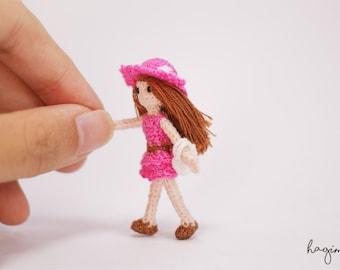 Tiny Doll, Amigurumi doll, Miniature crochet doll