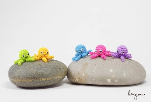 Miniatur Krake Häkeln Kleine Krake Häkeln Amigurumi Tiere Etsy