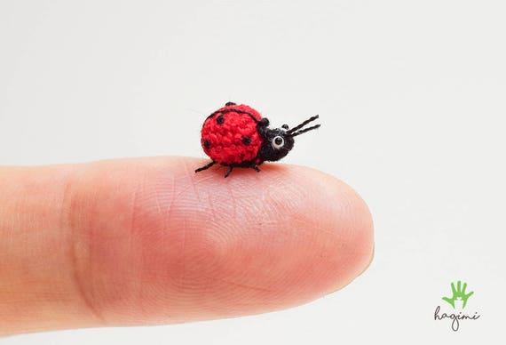 Mikro Marienkäfer Häkeln Kleine Marienkäfer Mikro Bug Etsy