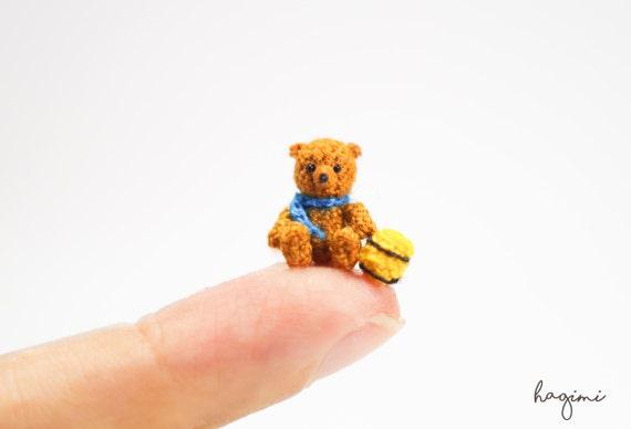 Mikro Häkeln Bär Kleine Amigurumi Kleine Tiere Puppen Haus Etsy