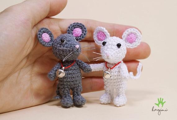 Mini Maus Häkeln Kleine Gefüllte Maus Mäuse Amigurumi Maus Etsy