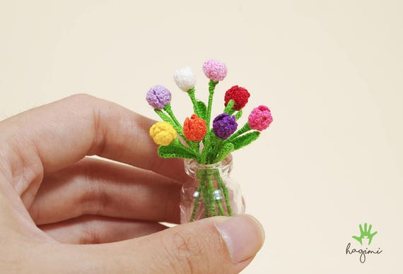 Kleine Tulpen Tulpen Häkeln Amigurumi Mini Blumen Blume Etsy