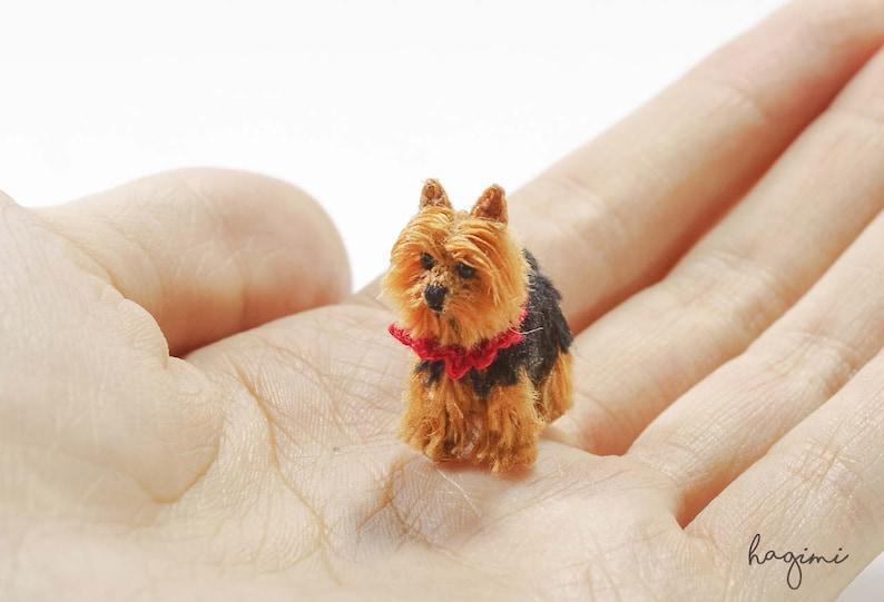 Miniature Yorkshire Terrier Tiny Crochet Dog Tiny Amigurumi Etsy