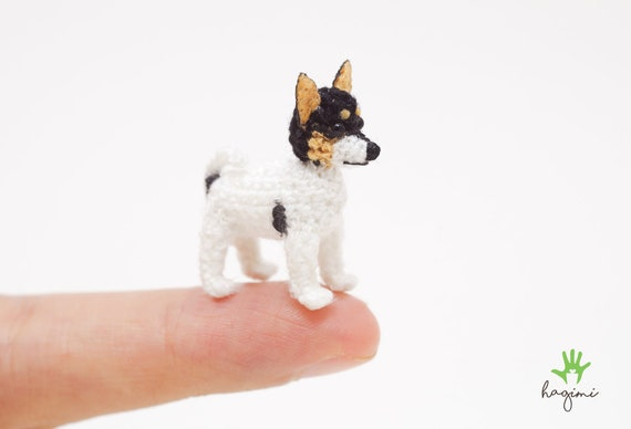 Miniature Crochet Rat Terrier Puppy Tiny Rat Terrier Puppy Etsy