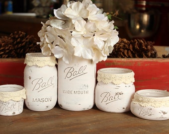 Farmhouse Mason Jar Collection- Weddings- Bathroom- Kitchen- Decor
