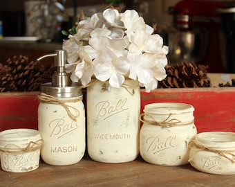 Farmhouse Mason Jar Collection- Weddings-Bathroom-Kitchen- Decor