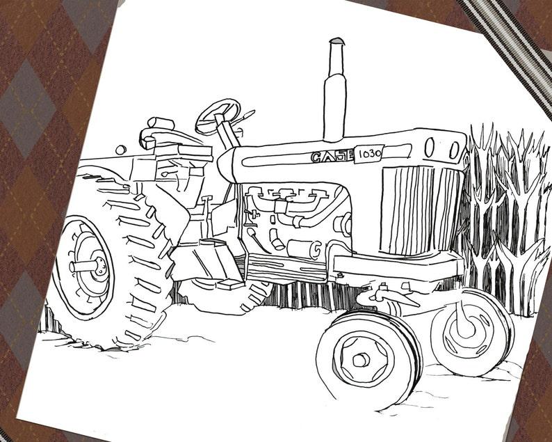 Kleurplaten Tractors Case.Kleurplaat Pagina Download Kleurplaat Kleurplaten Voor Etsy