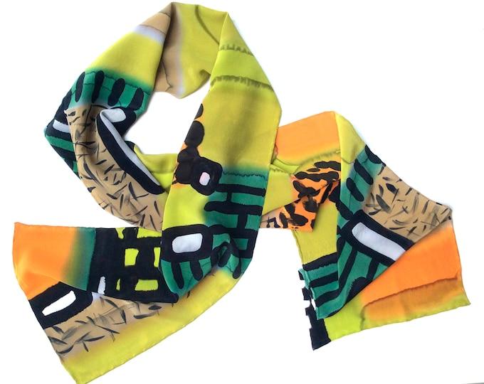 Mens gift, Silk Scarf Men, Hand painted silk scarf, Gift for Men, Mens Silk Scarf Hand Painted
