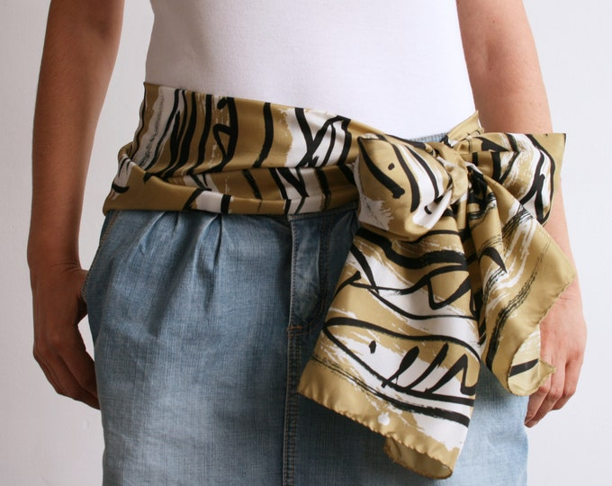 Scarf for women, Mediterranean scarf. Silk scarf. Design scarf. Gift for women.