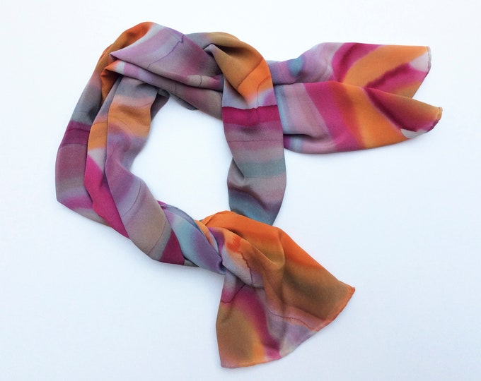 Scarf for woman, Luxury silk scarf, Hand painted scarf, Unique piece, Gift for granny, Gift mother in law