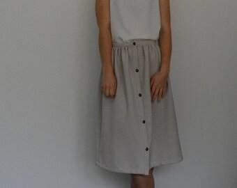 Button up skirt PDF sewing pattern